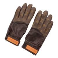 シュプリームコラボ モノグラム レザー グローブ 手袋 MP1893 ブラウン 8