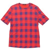 12SS マサイ メンズ Tシャツ レッド×ブルー XL