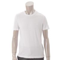 メンズ ロゴ コットン Tシャツ ホワイト S