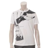 メンズ プリント Tシャツ S ホワイト