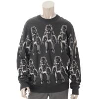 19SS メンズ スペースマン ニット トップス セーター グレー XL