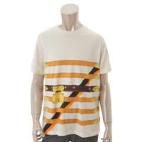 タイムトランク ベルト柄 Tシャツ ホワイト XL