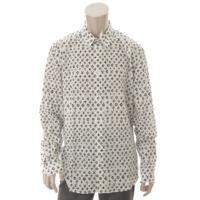 17SS モノグラムシャツ ホワイト XL