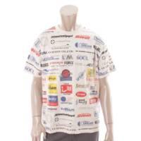 19SS メンズ オールオーバーロゴプリンテッド 半袖 Tシャツ カットソー 1A5DGH ホワイト M