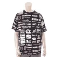 メンズ 19SS オールオーバーロゴプリンテッド 半袖 Tシャツ カットソー 1A5DGP ブラック L