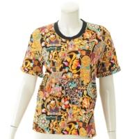 総柄プリント 半袖 Tシャツ S