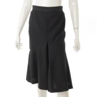 ウール フレアスカート ブラック 38