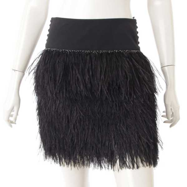 フェザー スカート ブラック 36