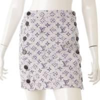 モノグラム ツイード 台形 スカート マルチカラー 34