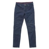 裾ジップ デニムパンツ ブルー 34