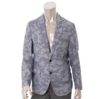 メンズ スカル テーラードジャケット ブルー XS