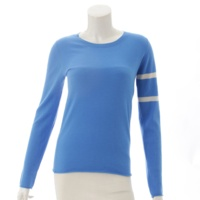 カシミヤ ニットトップス セーター ブルー S