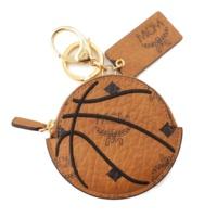 ×プーマ 50周年記念 バスケットボールモチーフ レザー コインケース ブラウン