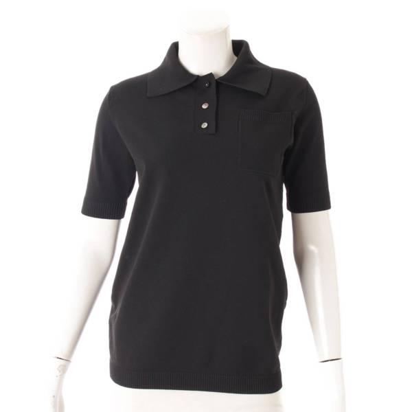 ニット ポロシャツ トップス MB201-8006 ブラック 00