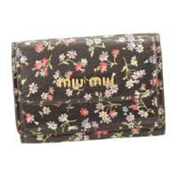 マドラス コンパクトウォレット ミニ財布 フラワー 花柄 5MH021  ブラック