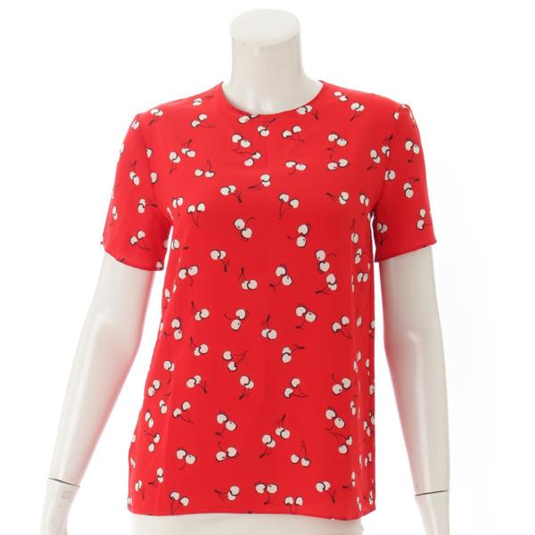 チェリー柄 半袖 Tシャツ トップス レッド 38