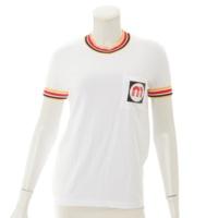 2018AW ロゴ ライン Tシャツ ホワイト XS