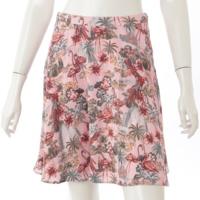 フラミンゴ総柄 スカート ピンク 40