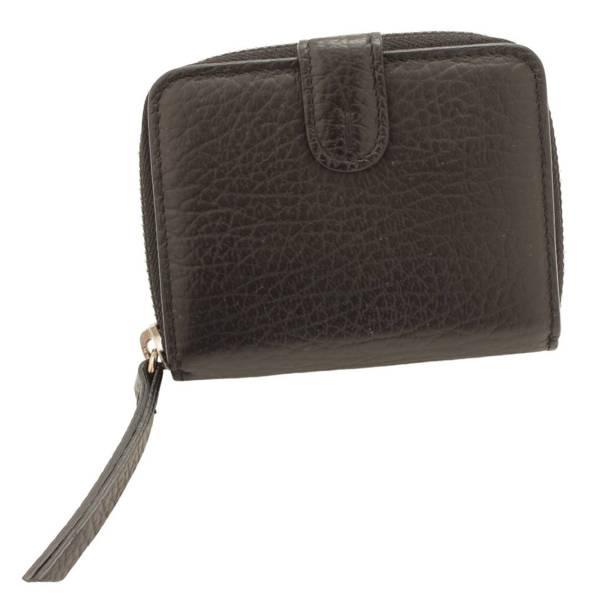 18AW レザー ミニウォレット 二つ折り財布 S56UI0112 ブラック