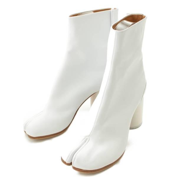 足袋 ヒールブーツ ホワイト 37