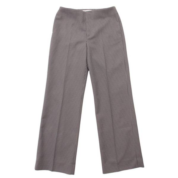 20SS Houndstooth Trousers 千鳥格子 スラックス センタープレス ストレートパンツ グレー 38