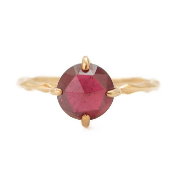 色石 カラーストーン ピンキー リング 指輪 K10 1.1g ゴールド 2.5号