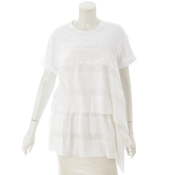 フリル カットソー Tシャツ ホワイト 36