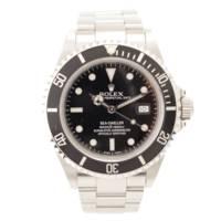 シードゥエラー 16600 自動巻き 腕時計 SS ブラック W番 日ロレOH済