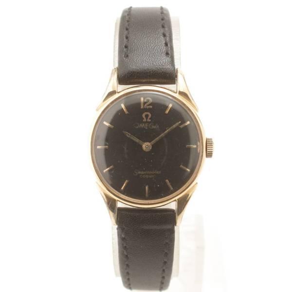 シーマスターコスミック アンティーク 腕時計 革ベルト cal.244 ブラック