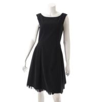 フリル ブローニュ ドレス ワンピース 29692 ブラック 40
