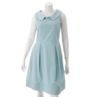 アナスタシア ノースリーブ ワンピース ドレス 33314 ブルー 42