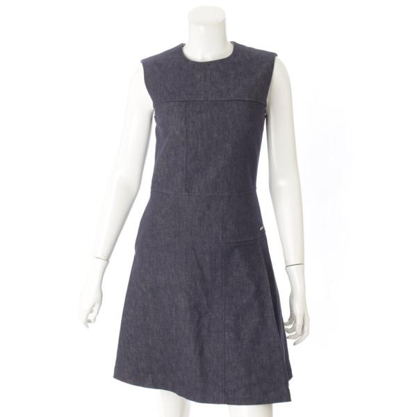 デニム ドレス ワンピース 35808 インディゴブルー 38