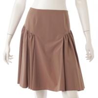 ギャザーフェザー スカート 30887 ブラウン 38