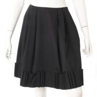 リズミカルリボン フレア スカート 31820 ブラック 40