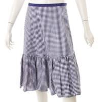 ギンガムチェック スカート 40089 ブルー 40