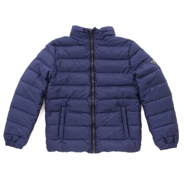 キッズ 子供服 フード ダウン ジャケット ブルー 10
