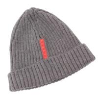プラダスポーツ ウール ニットキャップ ニット帽 グレー