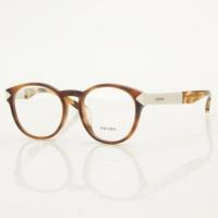 ウェリントン メガネ 眼鏡 ホワイト×ブラウン 52□18