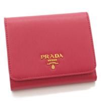 型押し 三つ折り レザー ウォレット 財布 1MH176 ピンク