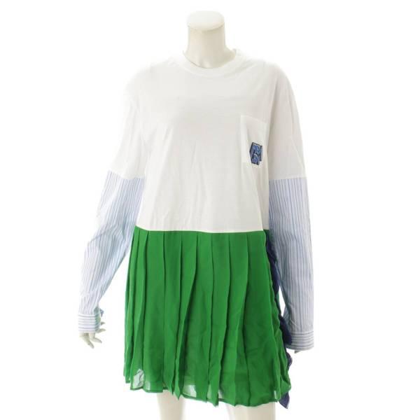 2018 ロゴ Tシャツ ワンピース ドレス 34580 マルチカラー XS