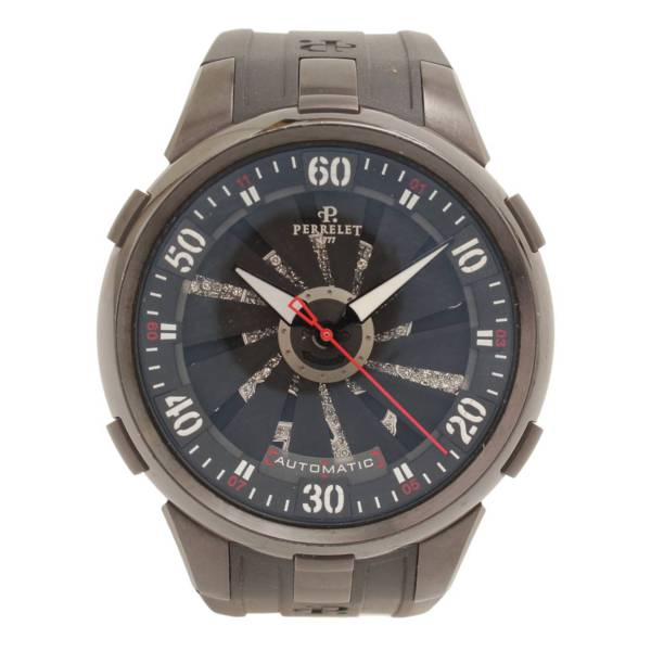 SPECIAL EDITION Turbine TOXIC 自動巻 腕時計 ウォッチ ダイヤモンドスカル A4023 ブラック
