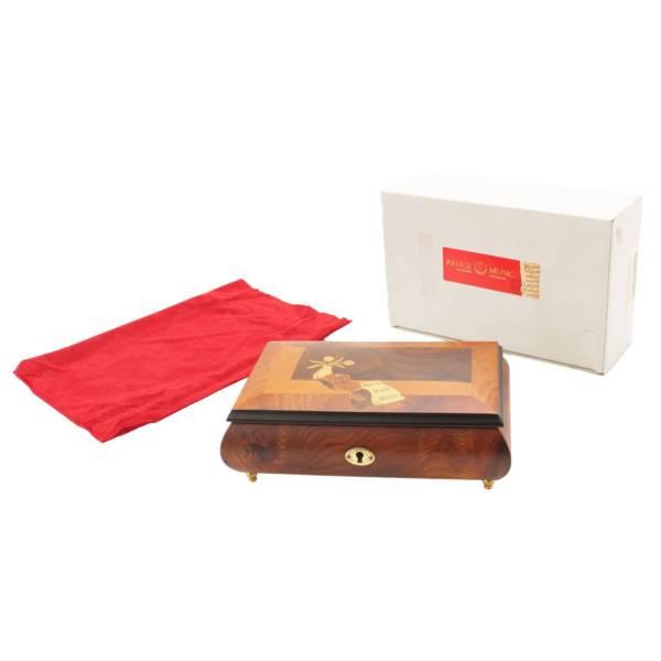 Allegro 36弁 オルゴール ジュエリーボックス 宝石箱 動作確認済
