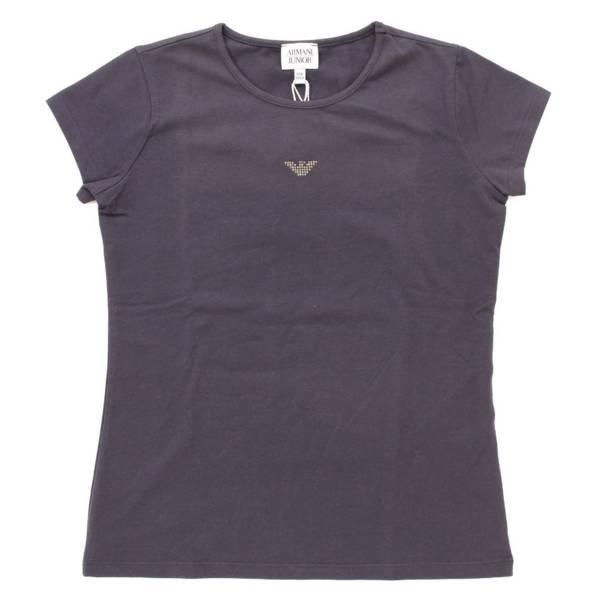 キッズ 子供服 ラインストーン 半袖 カットソー Tシャツ ネイビー 12A