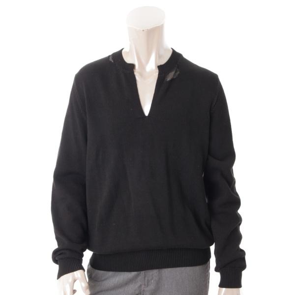 メゾンマルジェラ メンズ ニット トップス セーター ブラック M