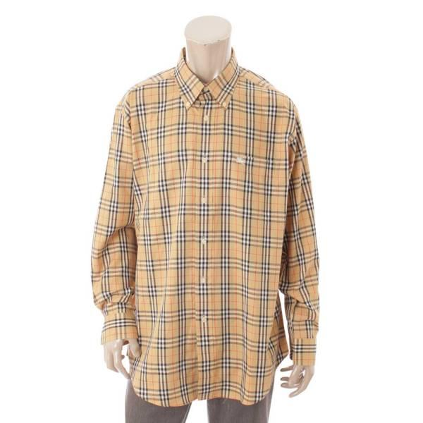 メンズ オーバーサイズ ボタンダウンシャツ ノバチェック ベージュ 41