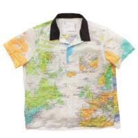 20SS 世界地図柄 半袖シャツ オープンカラーシャツ 20-0005K キッズ 6