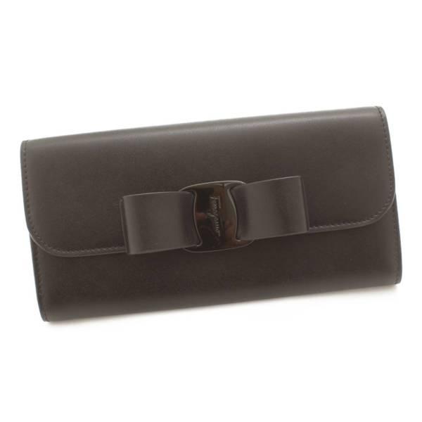 ヴァラ リボン 長財布 D269 ブラック