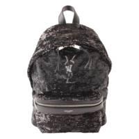 YSL ロゴ スパンコール バックパック デイバッグ リュックサック 482595 ブラック