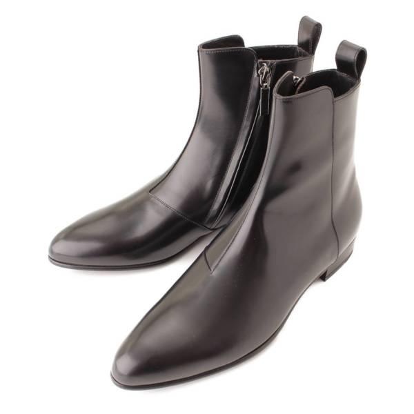 メンズ コードバン サイドジップ ブーツ 480085 ブラック 39 1/2