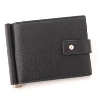 レザー マネークリップ 二つ折り財布 507620 ブラック